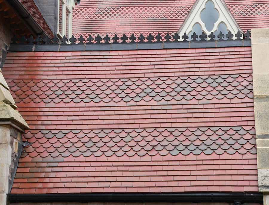 Brown Antique Club Tiles fitted by Tile Specialist in Hampshire.