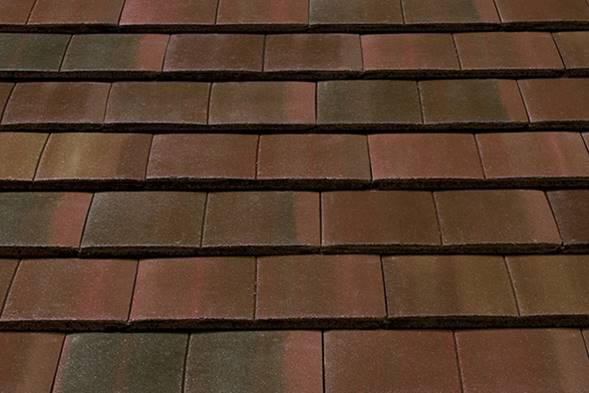 Forticrete Gemini Mixed Russet Concrete Interlocking Tile