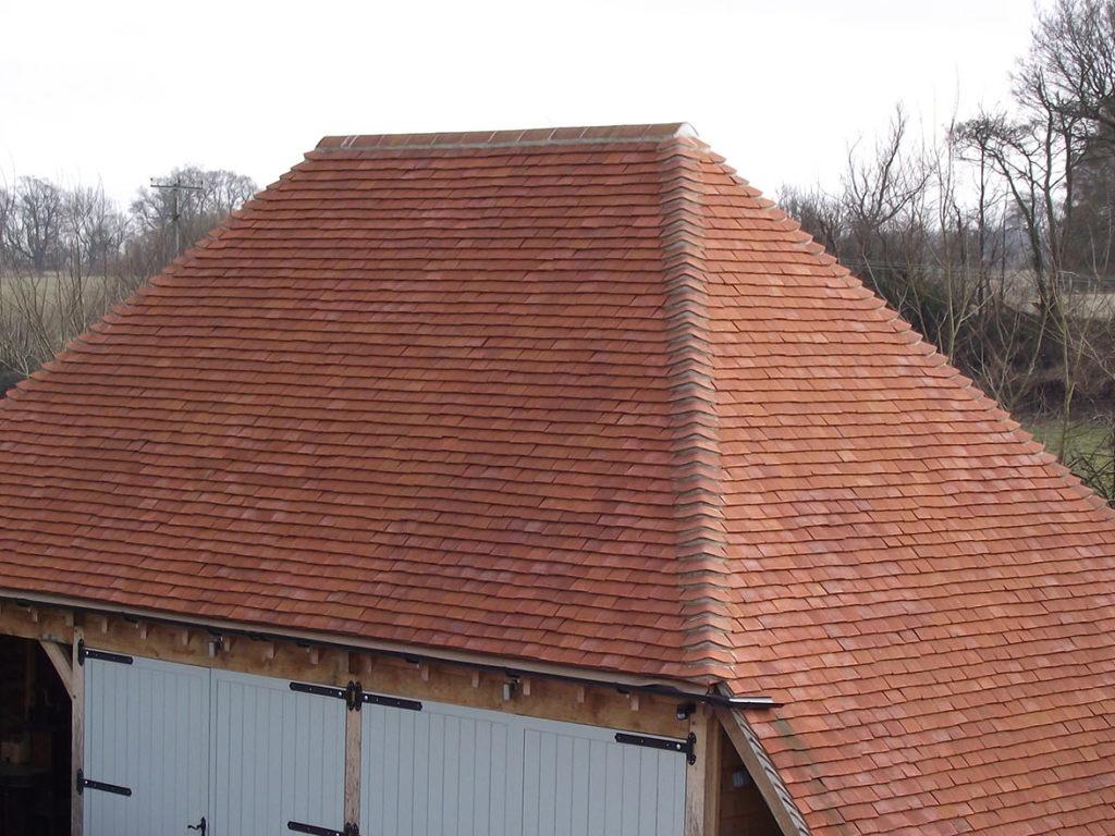 Handmade Orange Bonnet Hip from Tile Specialist in Hampshire.