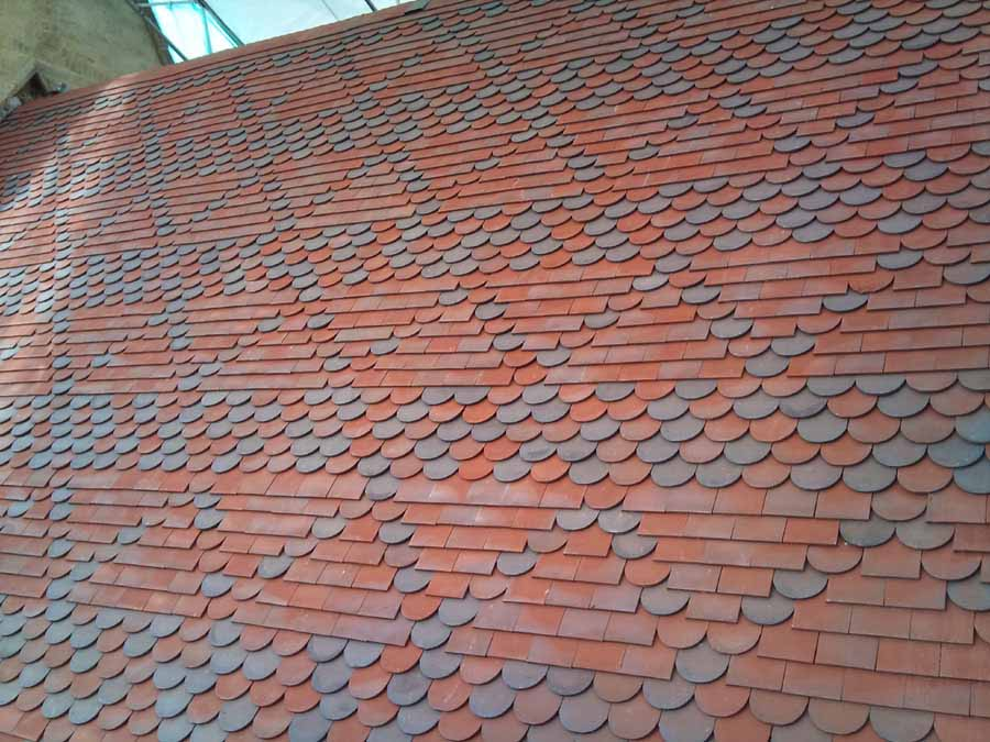 Tilemongers in Hampshire fitted Red Blue Blend Bullnose Tiles for Nocton Church.